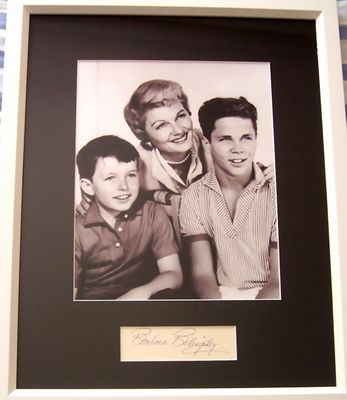 Barbara Billingsley autograph matted & framed with Leave It To Beaver 8x10 photo