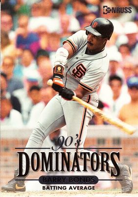 Barry Bonds San Francisco Giants 1994 Donruss Dominators (Batting Average) jumbo insert card #/10000