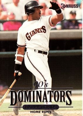 Barry Bonds San Francisco Giants 1994 Donruss Dominators (Home Runs) jumbo insert card #/10000