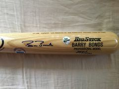Barry Bonds autographed Home Run #71 Rawlings Big Stick game model commemorative bat #255/500