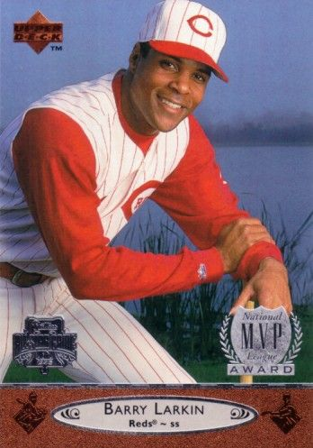 Barry Larkin Cincinnati Reds 1996 Upper Deck All-Star Game jumbo card