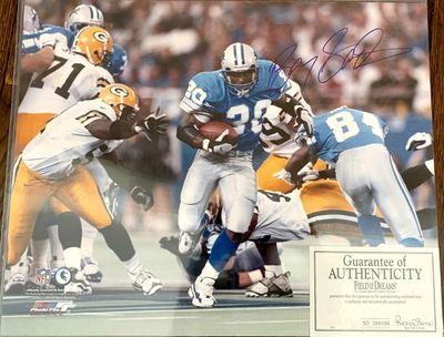 Barry Sanders autographed Detroit Lions 16x20 poster size photo (Schwartz Sports)