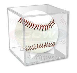 Baseball plastic display case cube holder