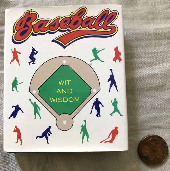 Baseball Wit and Wisdom miniature hardcover book of quotes