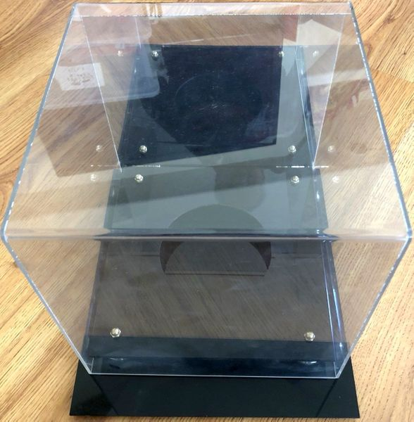 Basketball acrylic display case with mirrored back (used)