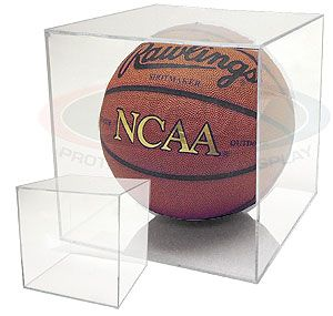 Basketball display case cube holder