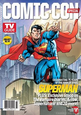 Batman & Superman 2013 Comic-Con TV Guide magazine with Beware the Batman poster