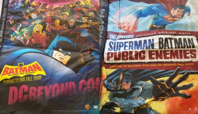 Batman The Brave and the Bold & Superman/Batman Public Enemies 2009 Comic-Con huge promo tote bag MINT
