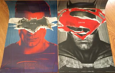 Batman vs. Superman set of two 2016 13x20 inch mini movie posters