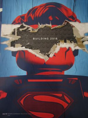 Batman vs. Superman movie LEGO 2015 San Diego Comic-Con promo poster