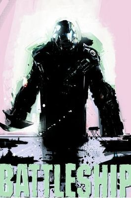 Battleship movie 2012 Wondercon EXCLUSIVE promo artwork teaser poster (Liam Neeson) MINT