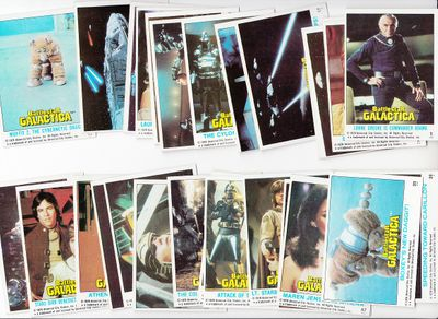 Battlestar Galactica lot of 28 different 1978 Topps trading cards