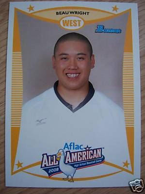 Beau Wright 2008 AFLAC Bowman Rookie Card