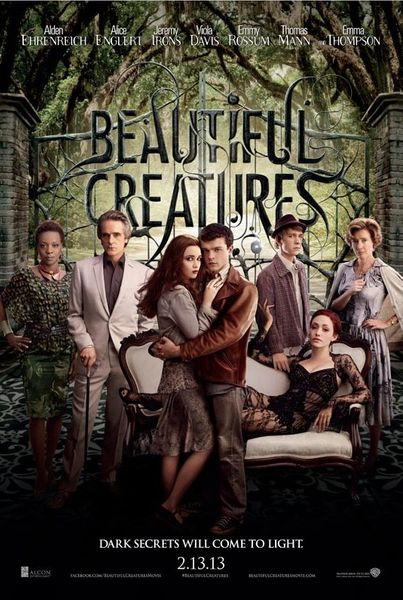 Beautiful Creatures mini movie poster (Viola Davis Jeremy Irons Emmy Rossum Emma Thompson)