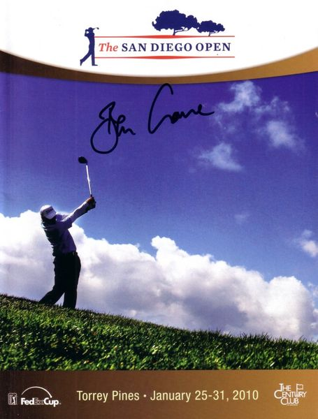 Ben Crane autographed 2010 Century Club Invitational Torrey Pines golf program