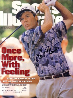 Ben Crenshaw autographed 1995 Masters Champion Sports Illustrated