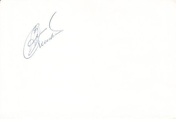 Ben Crenshaw autographed 5x8 inch album page