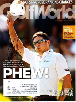 Ben Curtis autographed 2012 Golf World magazine