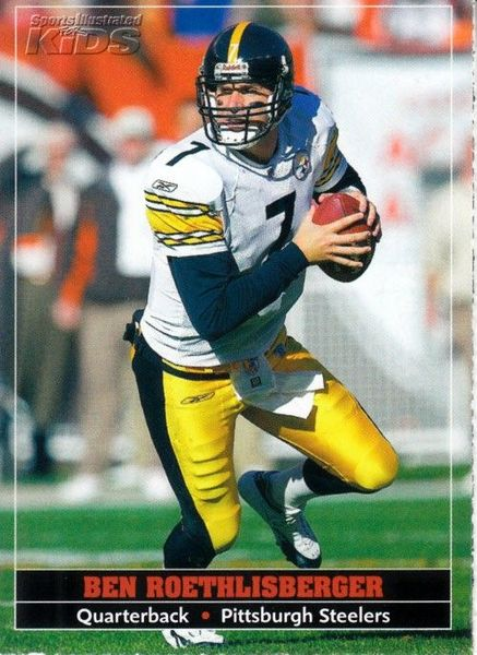 Ben Roethlisberger Pittsburgh Steelers 2005 Sports Illustrated for Kids card