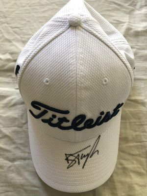 Ben Taylor autographed 2020 Farmers Insurance Open used or worn Titleist golf cap or hat