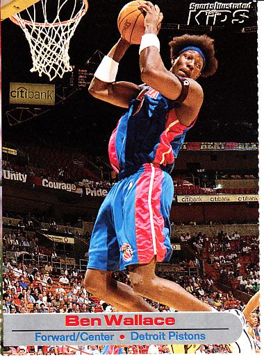 Ben Wallace Detroit Pistons 2002 Sports Illustrated for Kids card