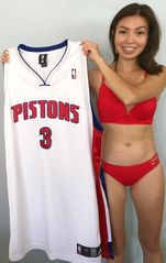 Ben Wallace Detroit Pistons authentic Adidas game model stitched white jersey NEW