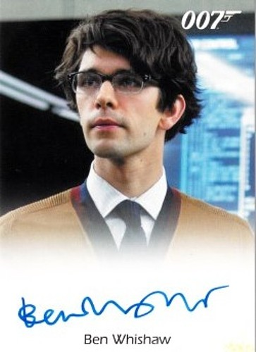 Ben Whishaw certified autograph Skyfall James Bond 007 Archives 2017 Rittenhouse card
