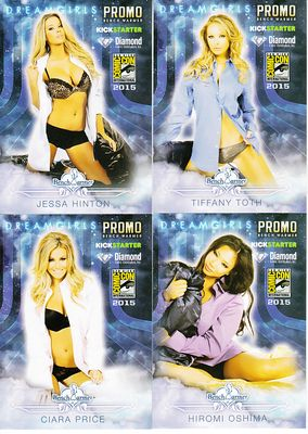 Bench Warmer Dreamgirls 2015 Comic-Con exclusive promo card near complete set (4 out of 5)