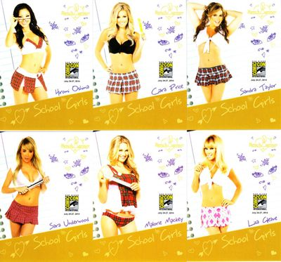 Bench Warmer School Girls 2014 Comic-Con exclusive promo card partial set (6 different)