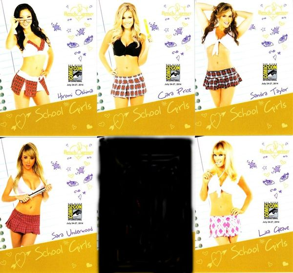 Bench Warmer School Girls 2014 Comic-Con exclusive promo card partial set (5 different)