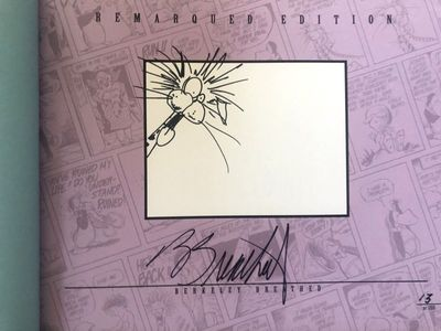 Berke Breathed autographed Bloom County Complete Library Volume 5 book (Bill the Cat remarqued) #13/100