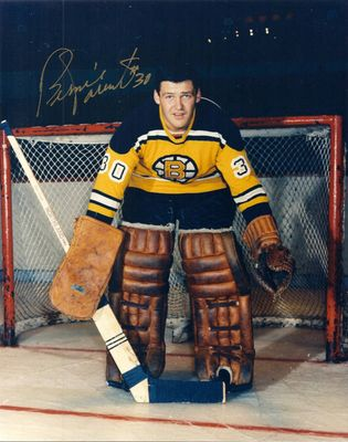 Bernie Parent autographed Boston Bruins 8x10 photo