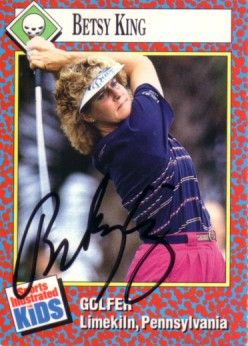 Betsy King autographed 1991 Sports Illustrated for Kids Rookie Card