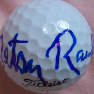 Betsy Rawls autographed Titleist golf ball