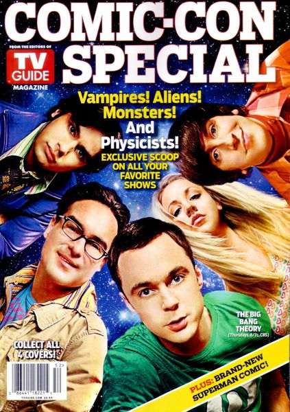Big Bang Theory cast 2010 San Diego Comic-Con TV Guide magazine with Young Justice and Thundercats poster