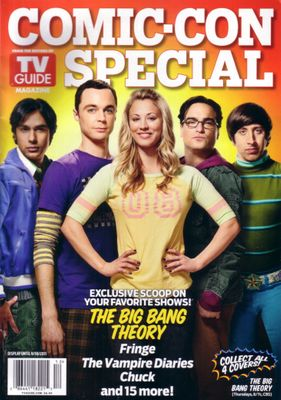 Big Bang Theory cast 2011 San Diego Comic-Con TV Guide magazine
