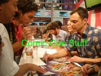 Big Bang Theory complete cast autographed 2011 Comic-Con 11x17 inch mini poster (Kaley Cuoco Jim Parsons)