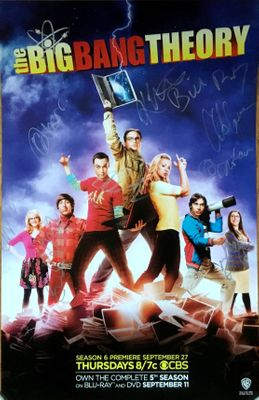 Big Bang Theory complete cast autographed 2012 Comic-Con mini poster (Kaley Cuoco Jim Parsons)