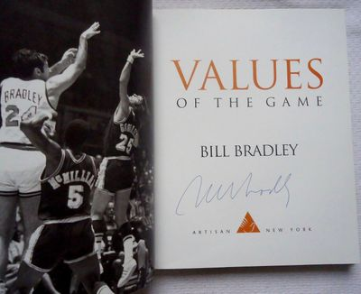 Bill Bradley autographed Values of the Game hardcover book