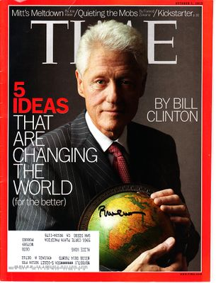 Bill Clinton autographed 2012 Time magazine