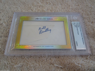 Bill Dudley 2014 Leaf Masterpiece Cut Signature certified autograph card 1/1 JSA