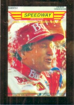 Bill Elliott 1992 Speedway racing promo card