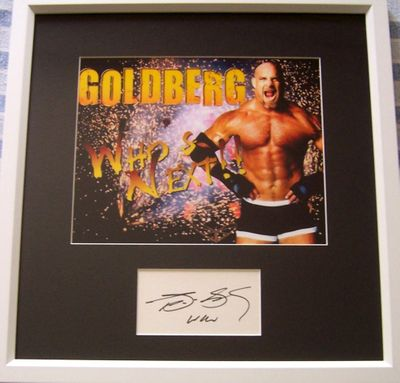 Bill Goldberg autograph matted & framed with 8x10 wrestling photo