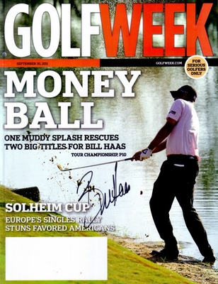 Bill Haas autographed 2011 Golf Week magazine