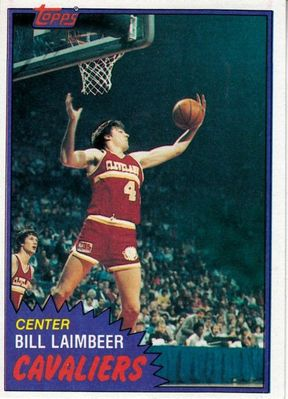 Bill Laimbeer 1981-82 Topps Rookie Card and 1986-87 Fleer card