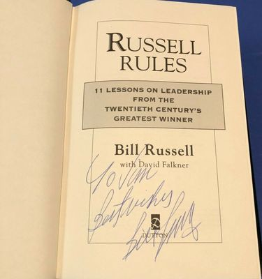 Bill Russell autographed Russell Rules hardcover first edition book (inscribed To Jim)