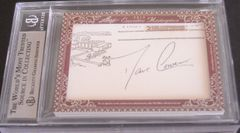 Bill Russell & Dave Cowens certified autograph 2012 Leaf Executive Masterpiece Dual Cut Signature card #1/1