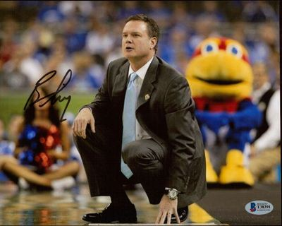 Bill Self autographed Kansas Jayhawks 8x10 photo (BAS authenticated)