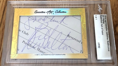 Bill Walton 2016 Leaf Masterpiece Cut Signature certified autograph card 1/1 JSA