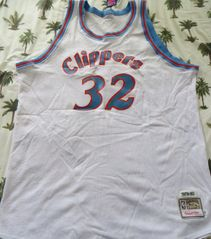 Bill Walton autographed 1979-80 San Diego Clippers authentic Mitchell & Ness throwback jersey inscribed Hall of Fame '93